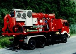 Mobiler Adsorber auf Feuerwehrfahrzeug